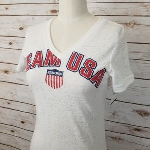 Team USA Apparel Red White Blue Tee Small Medium